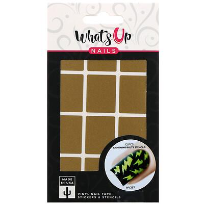 Whats Up Nails Трафареты с молнией, 12шт  - купить со скидкой
