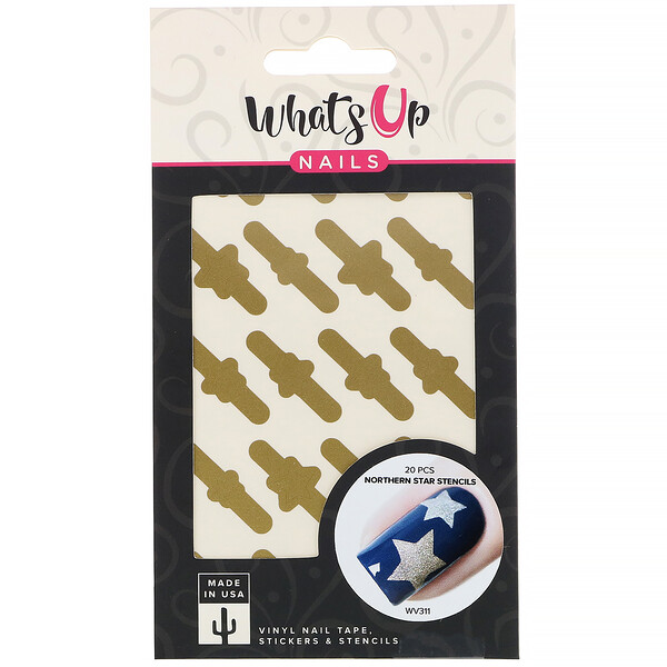 Whats Up Nails, Northern Star Stencils,  20 Pieces (Discontinued Item)