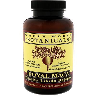 Купить Whole World Botanicals Royal Maca, 500 мг, 180 желатиновых капсул