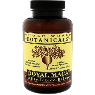 Whole World Botanicals, Royal Maca, 500 mg, 180 Gel Caps