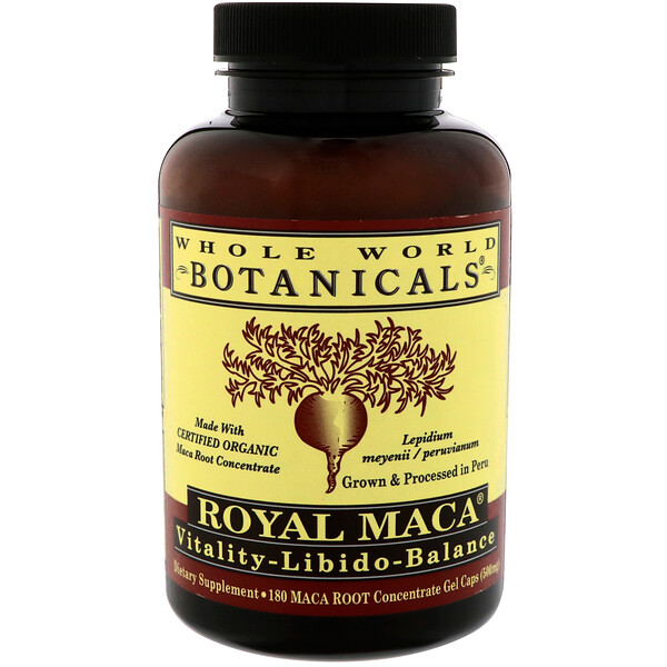 Royal Maca, 500 mg, 180 Gel Caps