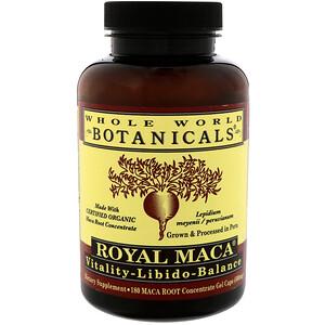 Вхоле Ворлд Ботаникалс, Royal Maca, 500 mg, 180 Gel Caps отзывы
