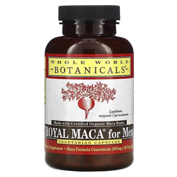 Royal Maca for Men, Gelatinized, 500 mg, 180 Vegetarian Capsules