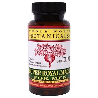 Whole World Botanicals, Maca Super Royal para Homens, 500 mg, 90 Cápsulas Vegetais
