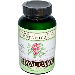 Whole World Botanicals, Royal Camu, 350 mg, 140 Capsules