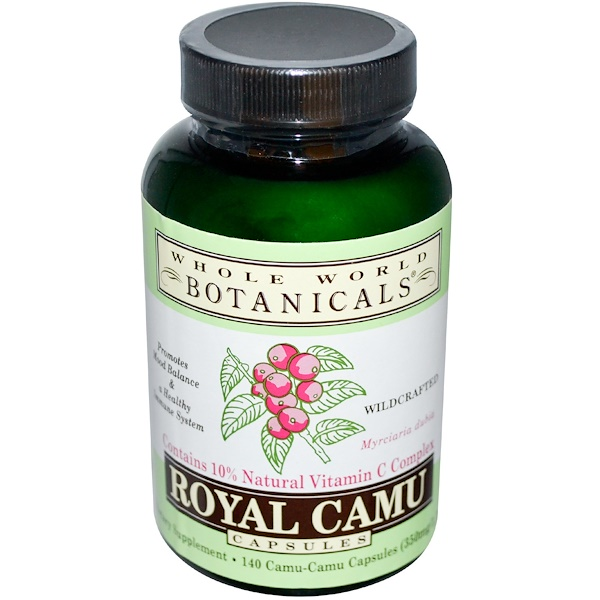Whole World Botanicals, Camu Real, 140 Cápsulas (Discontinued Item)
