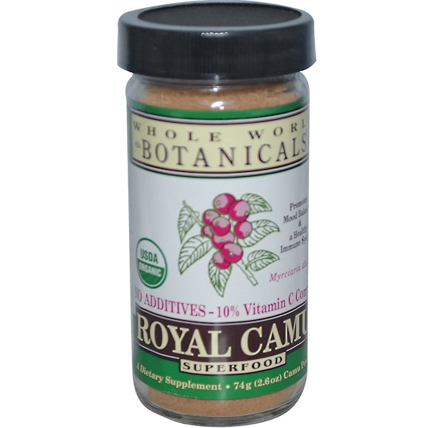 Whole World Botanicals, Organic Royal Camu, 2.6 oz (74 g) Powder (Discontinued Item)