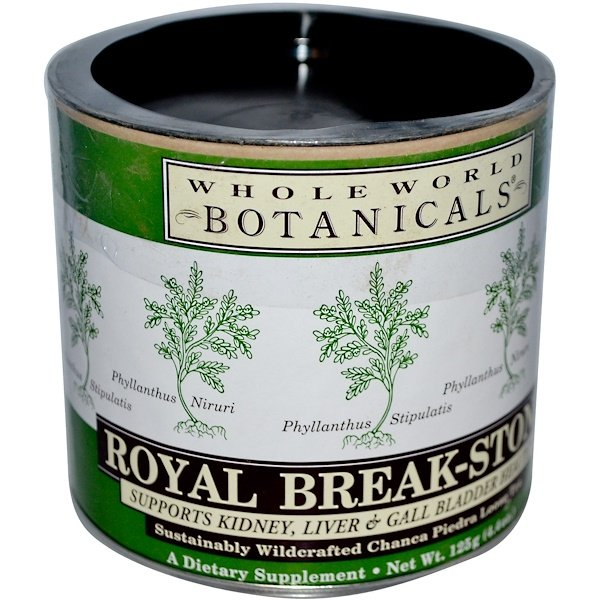 Whole World Botanicals, Chá de Quebra-Pedra Royal, 125 g (4,4 oz)