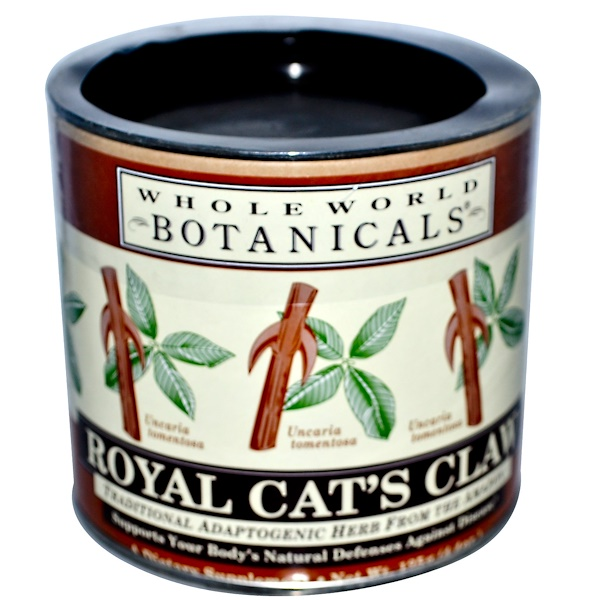 Whole World Botanicals, مستحضر Royal Cat's Claw، بعشبة مخلب القط، 4.4 أونصة (125 جم)