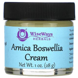 WiseWays Herbals, Arnica Boswellia Cream, 1 oz (28 g)