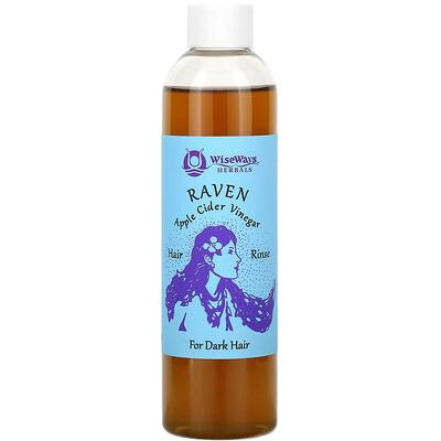 Купить WiseWays Herbals Raven, Apple Cider Vinegar Hair Rinse, For Dark Hair, 8 oz (236 ml)