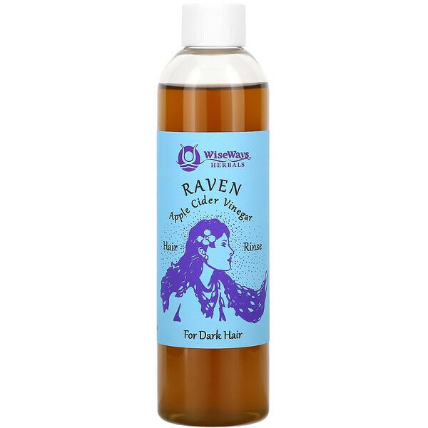 Raven, Apple Cider Vinegar Hair Rinse, For Dark Hair, 8 oz (236 ml)