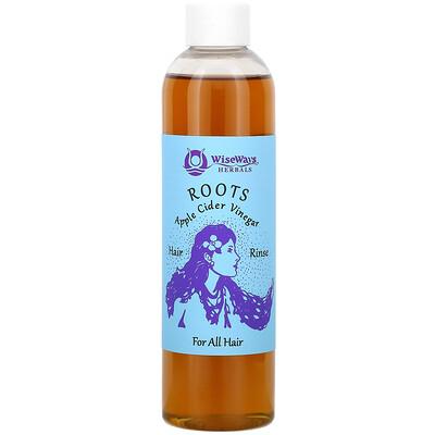 WiseWays Herbals Roots, Apple Cider Vinegar Hair Rinse, For All Hair, 8 oz (236 ml)