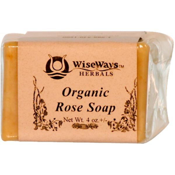 WiseWays Herbals, LLC, Organic Rose Soap, 4 oz (Discontinued Item)