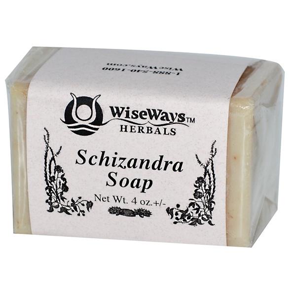 WiseWays Herbals, LLC, Schizandra Soap, 4 oz +/- (Discontinued Item)