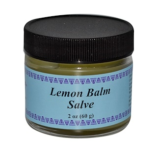 WiseWays Herbals, LLC, Lemon Balm Salve, 2 oz (56 g)
