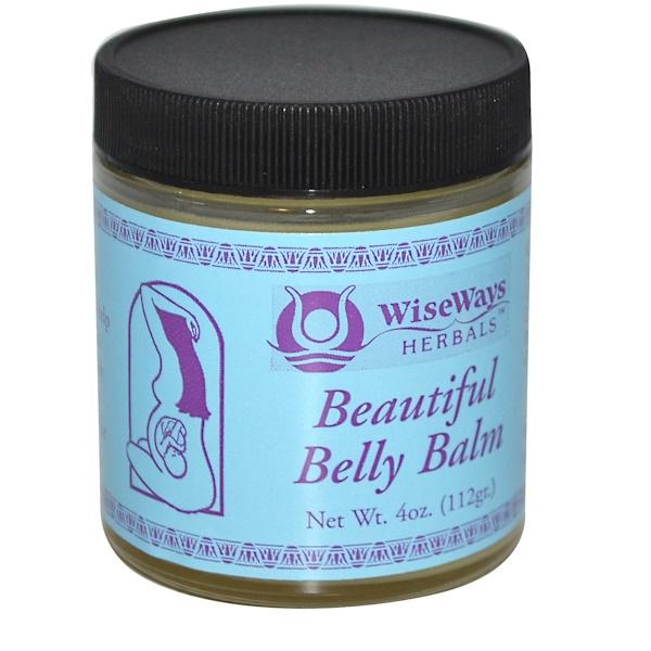 WiseWays Herbals, LLC, Бальзам для красивого живота 4 унции (112 г)