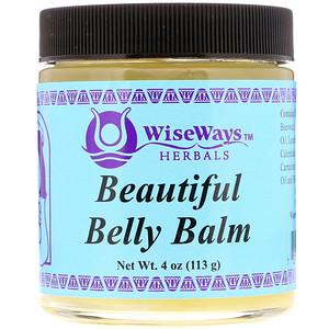 Уайз Уэйз Хербалс, Beautiful Belly Balm, 4 oz (113 g) отзывы покупателей