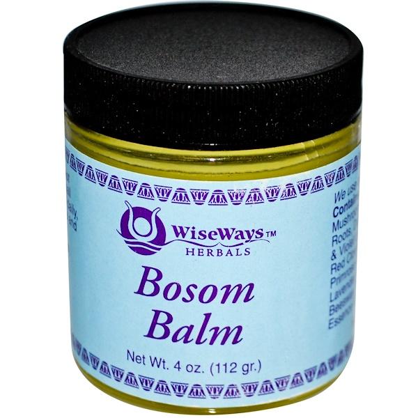 WiseWays Herbals, LLC, Бальзам для груди, 4 унции (113 г)