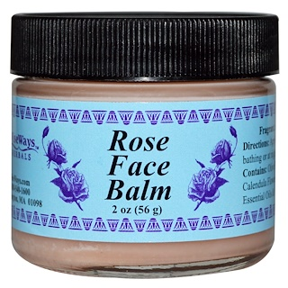 WiseWays Herbals, LLC, Rose Face Balm, 2 oz (56 g)