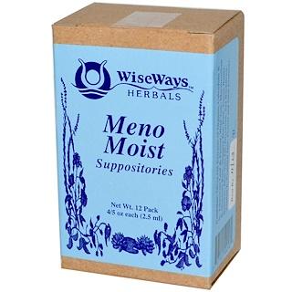 WiseWays Herbals, LLC, 메노 모아스트 서포지트리즈, 12 팩, 각각 4.5 온스 (2.5 밀리리터)