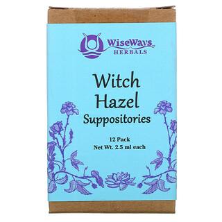 WiseWays Herbals, Witch Hazel Suppositories, 12 Pack, 2.5 ml Each