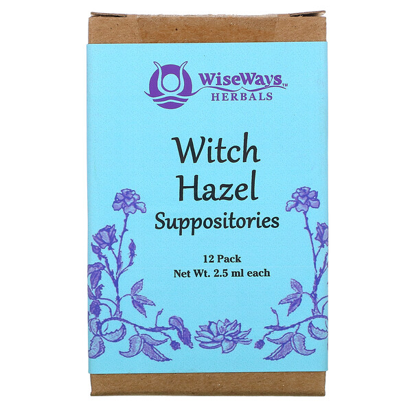 Witch Hazel Suppositories, 12 Pack, 2.5 ml Each