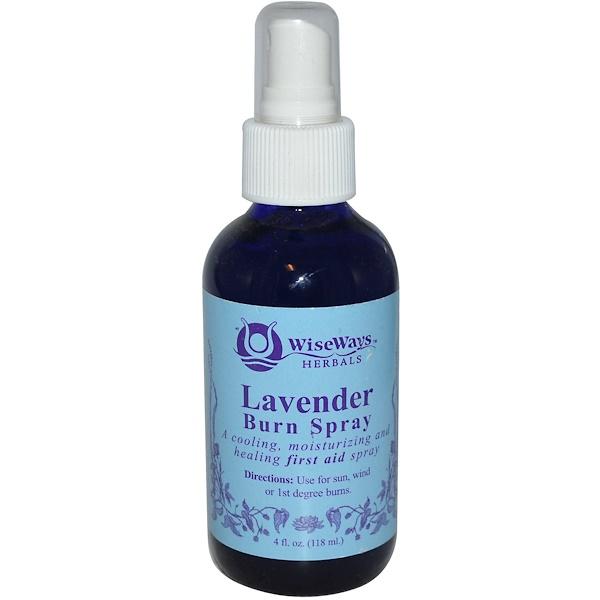 WiseWays Herbals, LLC, Lavender Burn Spray, 4 fl oz (118 ml) (Discontinued Item)