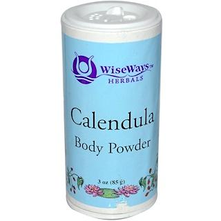 WiseWays Herbals, LLC, Calendula Body Powder, 3 oz (85 g)