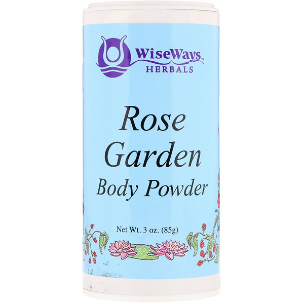 WiseWays Herbals, Rose Garden Body Powder, 3 oz (85 g) (Discontinued Item)