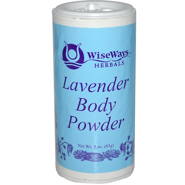 WiseWays Herbals, LLC, Lavender Body Powder, 3 oz (85 g) (Discontinued Item)