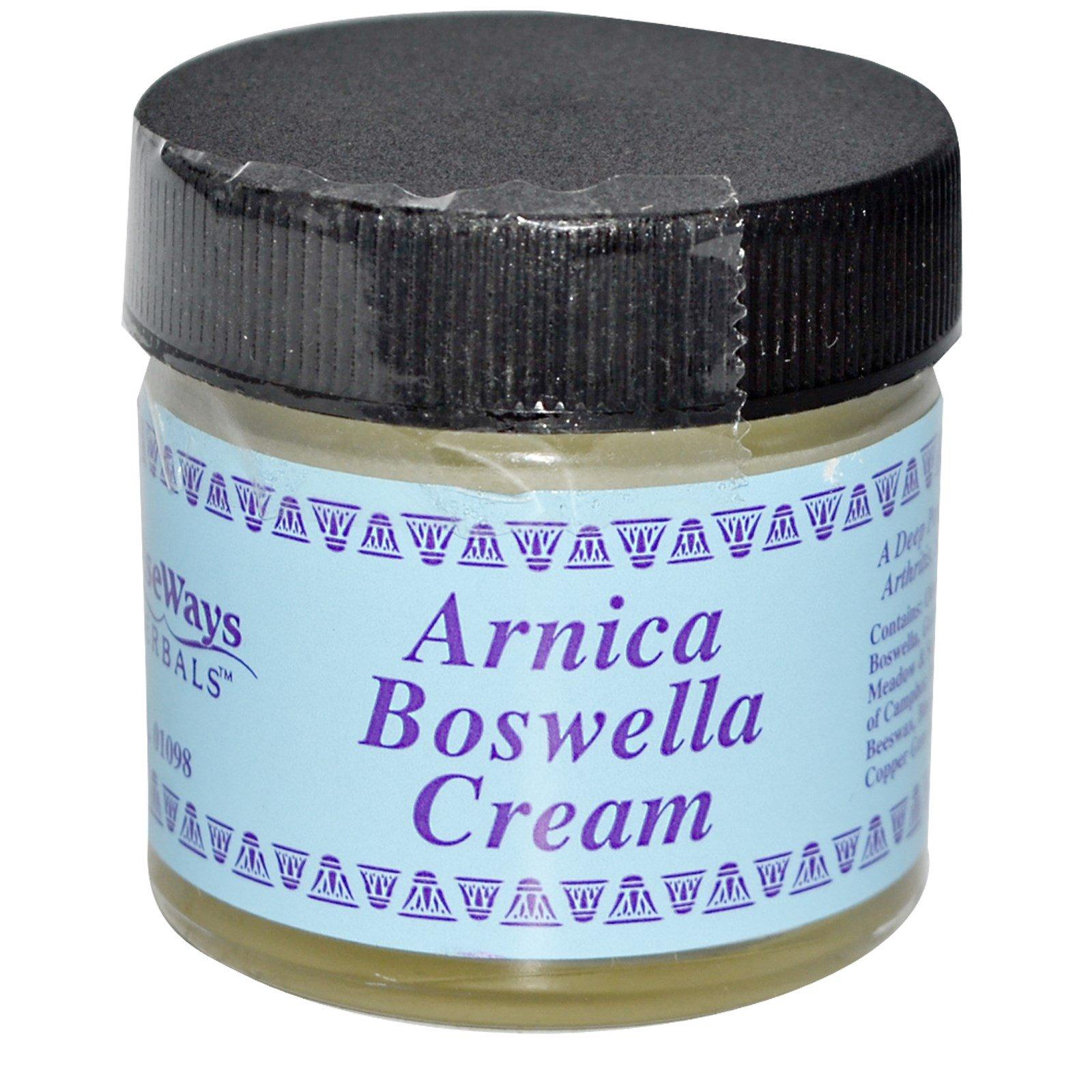 WiseWays Herbals, LLC, Крем с арникой и босвеллией, 1 унция