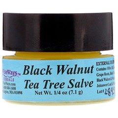 WiseWays Herbals, Black Walnut Tea Tree Salve, 1/4 oz (7.1 g)