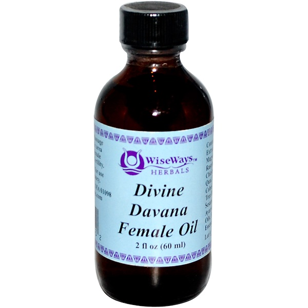 WiseWays Herbals, LLC, Divine Davana Female Oil, 2 fl oz (60 ml) (Discontinued Item)