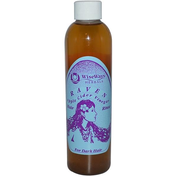 WiseWays Herbals, LLC, Raven, Apple Cider Vinegar Hair Rinse, 8 fl oz