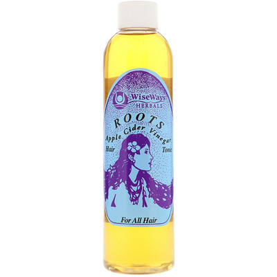 WiseWays Herbals, LLC Roots, Apple Cider Vinegar Hair Rinse, For All Hair, 8 oz (236 ml)