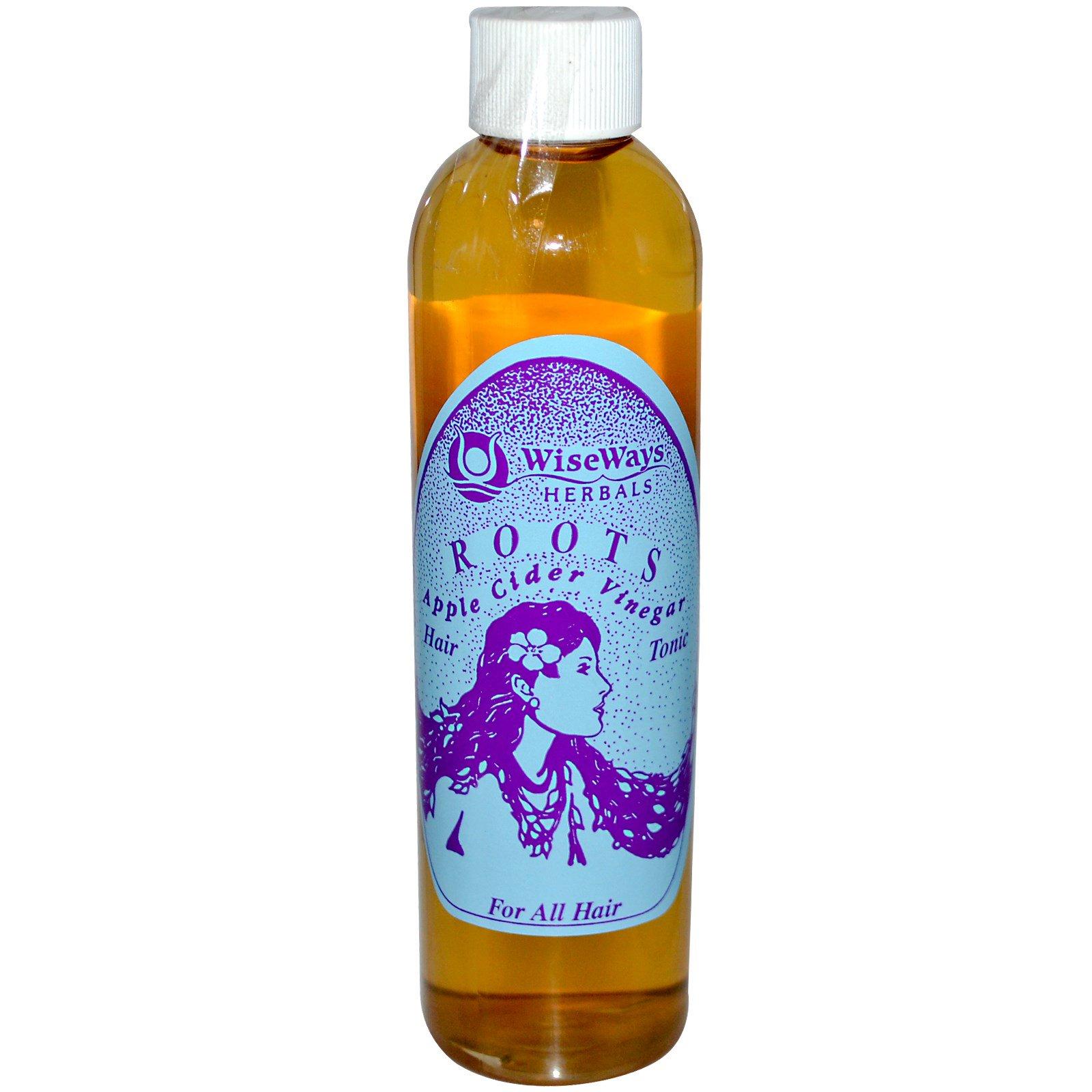 WiseWays Herbals, LLC, Яблочный уксус для корней, тоник для волос, 8.4 унций (250 мл)