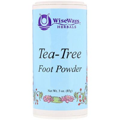 Купить WiseWays Herbals Tea-Tree Foot Powder, 3 oz (85 g)