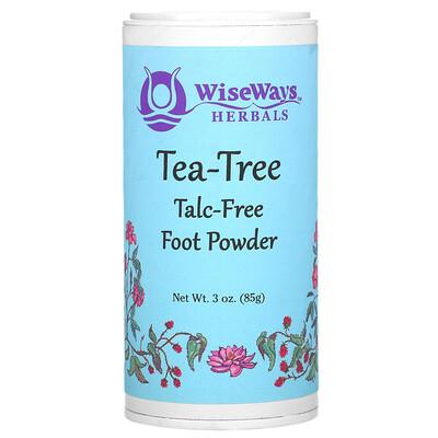 WiseWays Herbals Tea-Tree Foot Powder, 3 oz (85 g)