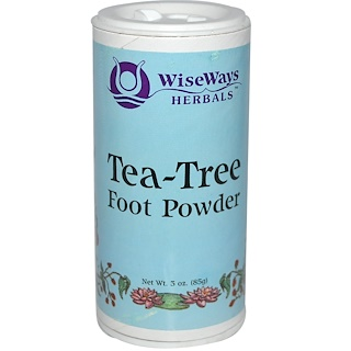 WiseWays Herbals, LLC, Tea-Tree Foot Powder, 3 oz (85 g)