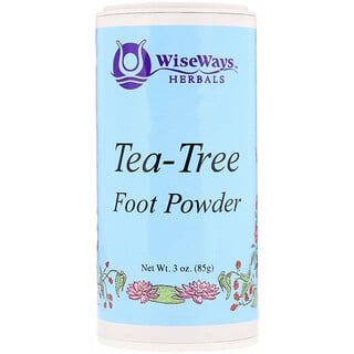 WiseWays Herbals, LLC, Tea-Tree Foot Powder, 3 oz (85 g)