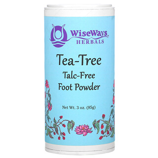 WiseWays Herbals, Tea-Tree Foot Powder, 3 oz (85 g)