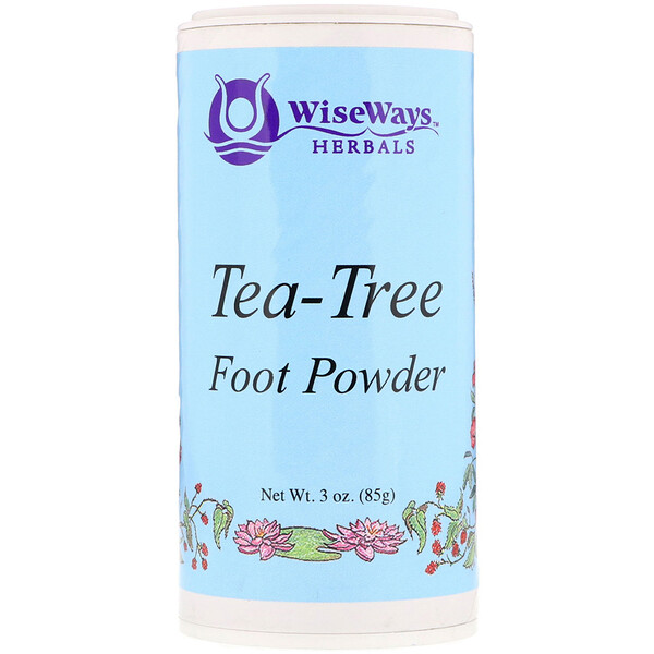 WiseWays Herbals, Tea-Tree Foot Powder, 3 oz (85 g)