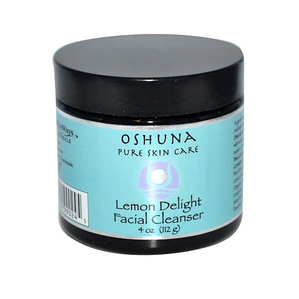 WiseWays Herbals, LLC, Oshuna, Lemon Delight Facial Cleanser, 4 oz (112 g)  (Discontinued Item)