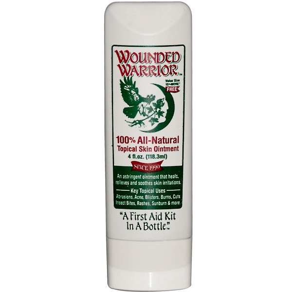 Wounded Warrior, 100% All-Natural Topical Skin Ointment, 4 fl oz (118.3 ml) (Discontinued Item)