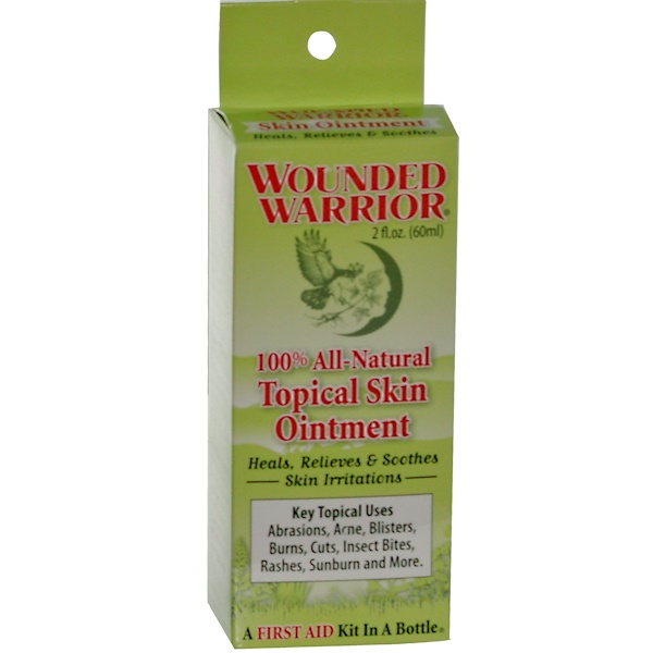 Wounded Warrior, 100% All-Natural Topical Skin Ointment, 2 fl oz (60 ml) (Discontinued Item)
