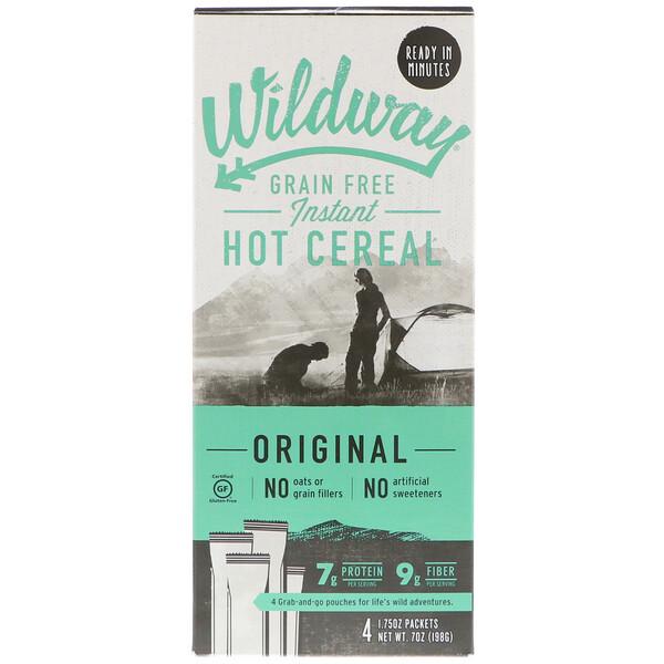 Wildway, דגני בוקר נטולי גרעין חמים ברגע, אורגינל, 4 חפיסות, 50 ג' ליחידה