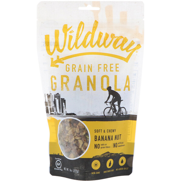 Wildway, Grain Free Granola, Banana Nut, 8 oz (227 g) (Discontinued Item)