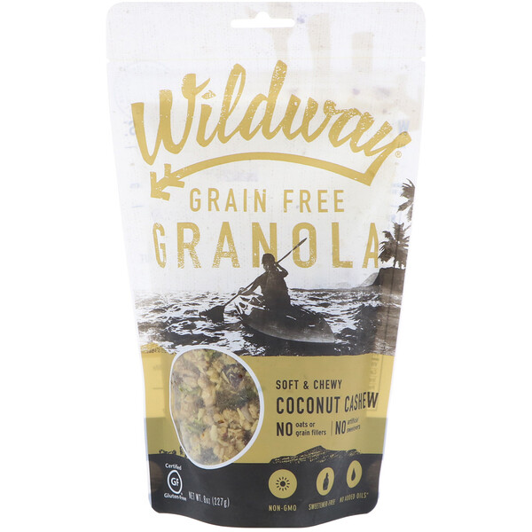Wildway, Grain Free Granola, Coconut Cashew, 8 oz (227 g) (Discontinued Item)