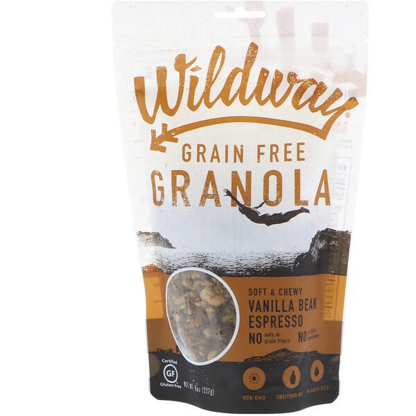 Wildway, Grain Free Granola, Vanilla Bean Espresso, 8 oz (227 g) (Discontinued Item)
